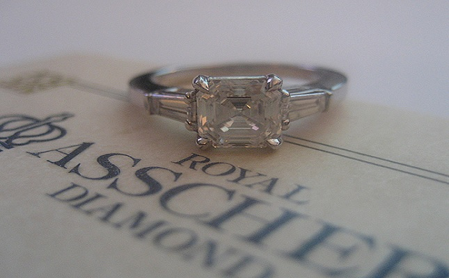 engagement jewelry image diamond ring asscher wedding royal margulis