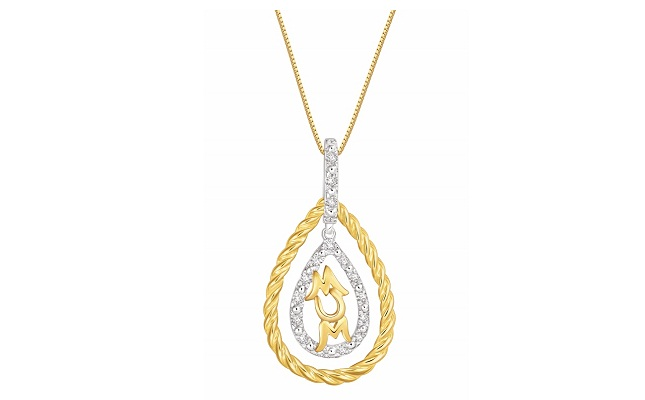 Pure gold jewellers unveils mothers day diamond pendant collection aloadofball Image collections